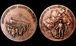 centenario treno medaglia