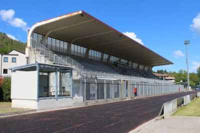 Tribuna con box per disabili Stadio Nardini