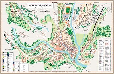 La precedente versione della cartina di Castelnuovo Garfagnana