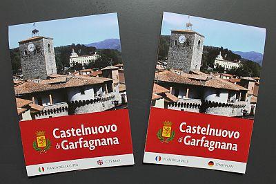 La nuova cartina di Castelnuovo di Garfagnana nelle due versioni italiano/inglese e francese/tedesco