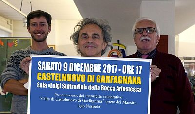 Ugo Nespolo, autore del manifesto celebrativo per gli 80 anni della Pro Loco di Castelnuovo di Garfagnana